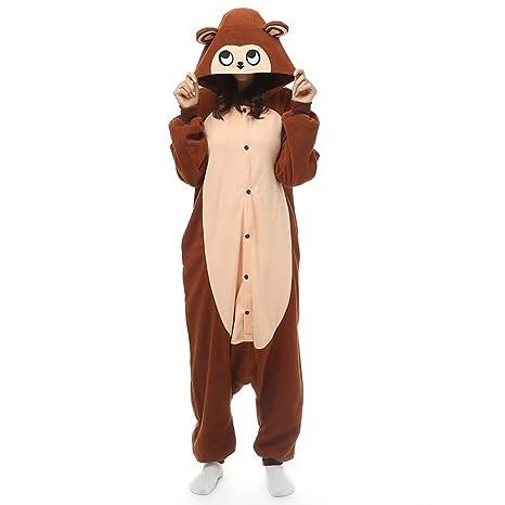 nuovo stile 08c07 183bf DUKUNKUN Pigiama Scimmia per Adulti Costume da caffè Gioco ...