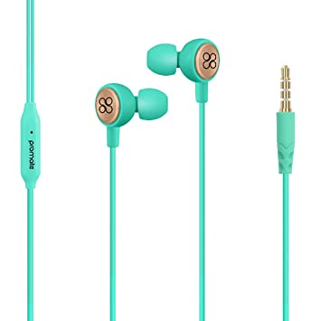 9e8818c81b0 Promate Earphone with Mic for iPhone X, Universal 3.5mm Stereo Headset with  In-