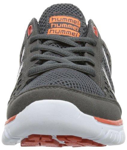 Hummel HUMMEL CROSS LITE - Zapatillas deportivas para interior de material sintético unisex gris - Grau (Dark Shadow/Hot Coral 2846)