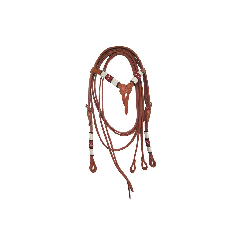 Cognac Lakota Western Rawhide Finished With Bridle Reins TG UNICA Various Colours