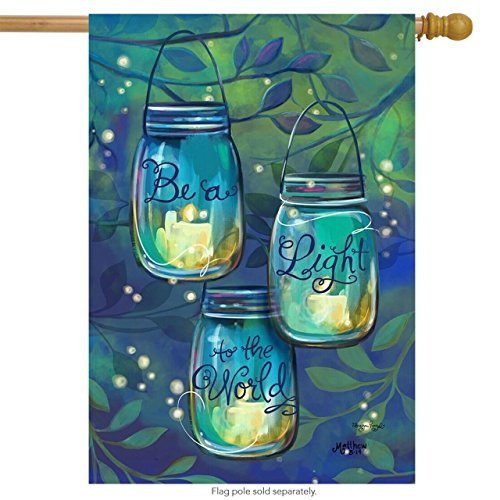 Briarwood Lane Be A Light Spring House Flag Inspirational Candles 28