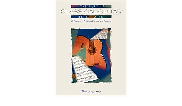 A Treasury Of Classical Guitar Repertoire. Partituras para Acorde ...
