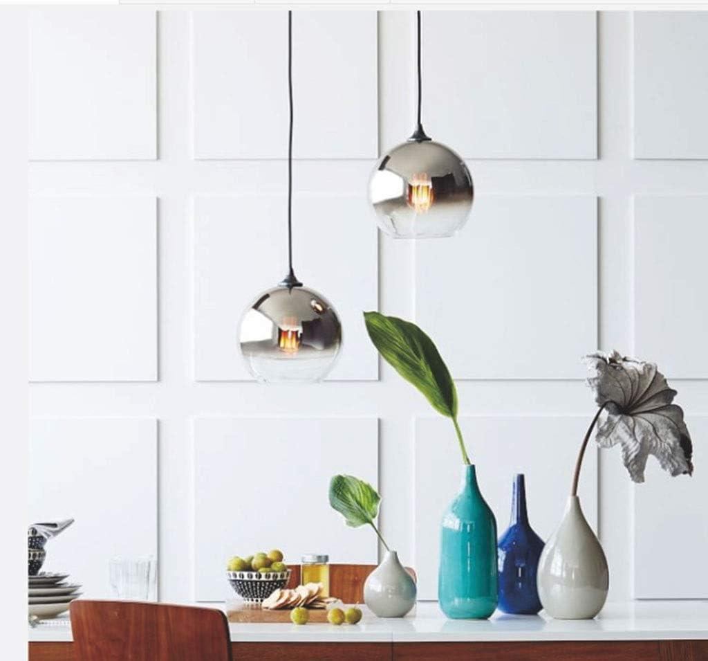moderner minimalistischer runder Glas-Kronleuchter Schlafzimmer geeignet for das Esszimmer Energieklasse A++ Color : B-30cm kreativer Bett-Kopf-Kronleuchter Modern Deckenlampe Kronleuchter