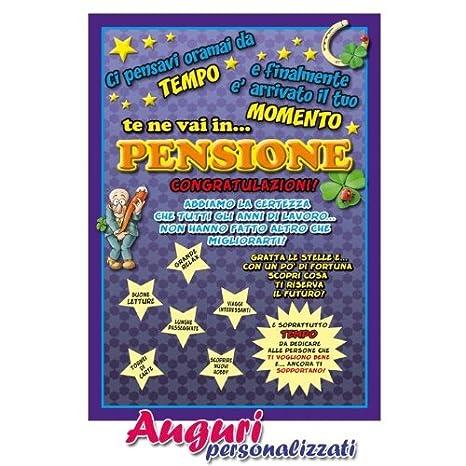 Cartolina Auguri Pensione Amazonit Giochi E Giocattoli