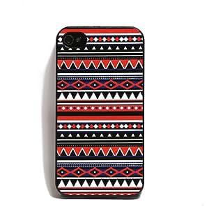 Misswonder Azteca tribal del modelo de la cubierta Case Snap On trasero duro para el iPhone de Apple 4 4S