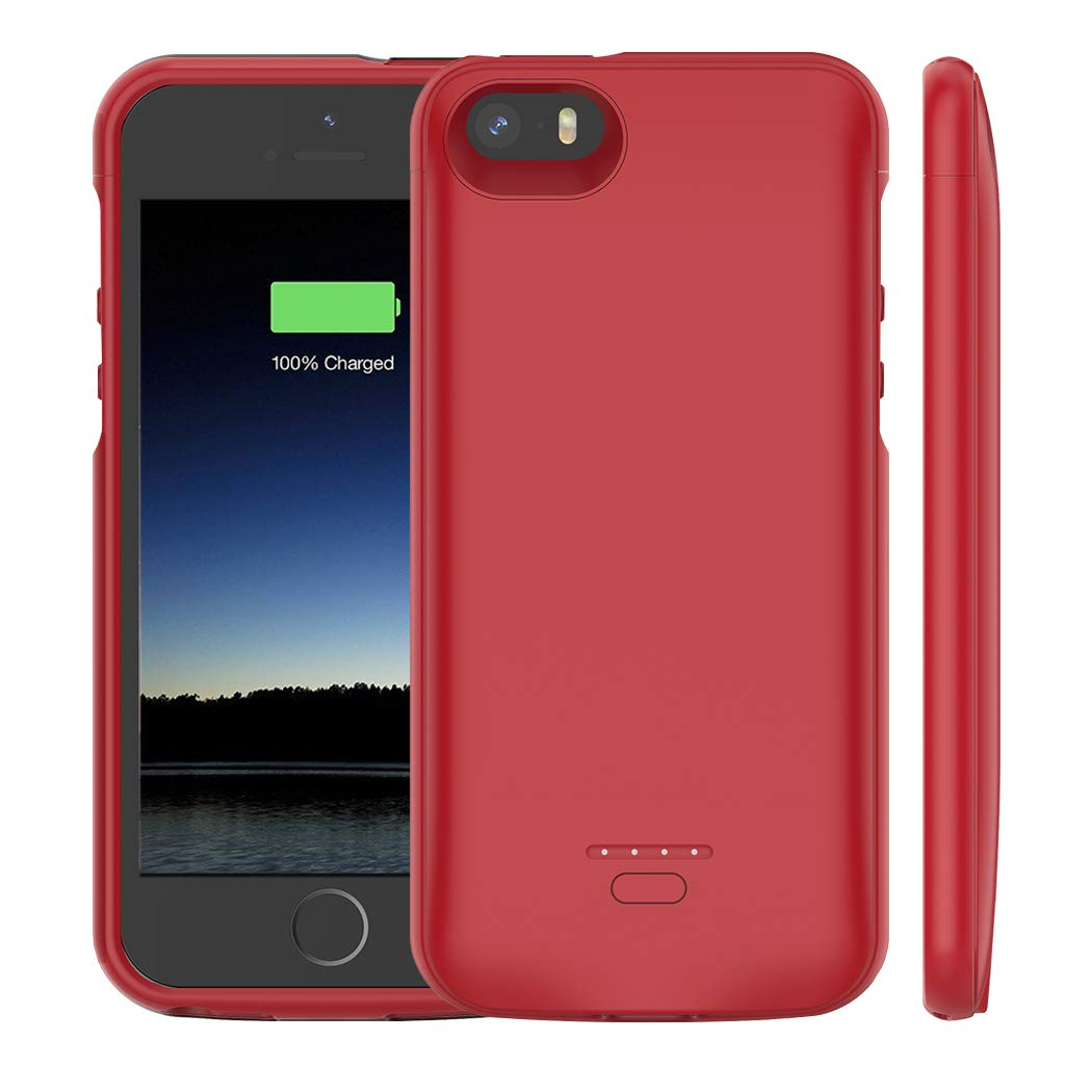 iPhone 5 //5S //SE Battery Case Black Not Compatible iPhone 5C Euhan 4000mAh Rechargeable Portable Power Charging Case iPhone 5 5S SE Extended Battery Pack Charger Case Ultra Thin
