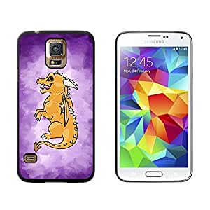 New Style Baby Dragon Chibi on Purple - Cute - Snap On Hard Protective Case for Samsung Galaxy S5 - Black