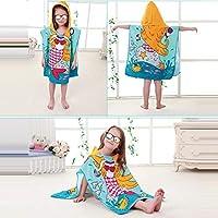 AiYannis6 Toddler Hooded Beach Bath Towel,Kids Soft Beach Towel Swim Pool Coverup Poncho Cape,2-8 Years Old Bath Robe