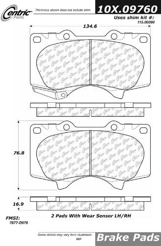 Centric Parts, 105.09760, PosiQuiet Ceramic Pads