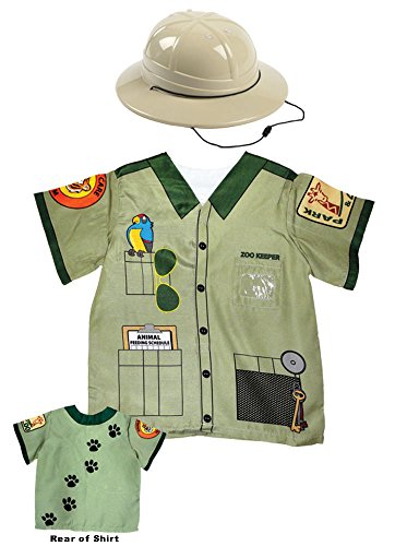 Aeromax My 1st Career Gear Zookeeper Shirt and Pith Safari Helmet (2 Piece Bundle).