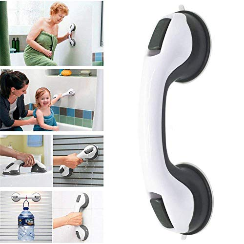 (Balance Assist Shower Grab Bar, Bathroom Armrest Shower Handle Bar Offers Safe Grip With Strong Hold Suction Cup For Safety Grab In Bathroom,Tub, Shower)