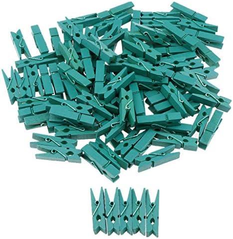 COMFORT INNOVATION 100pcs Wood Clips Photo Paper Peg Cloth Pin Decorative Craft Decor-Green / COMFORT INNOVATION 100pcs Wood Clips Photo Paper Peg Cloth Pin Decorative Craft Decor-Green