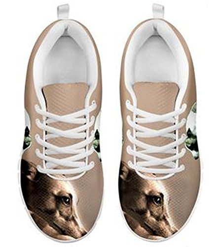 Men's Dog 6 Print Brand Cute Whippet Casual Sneakers wzqBZIvx