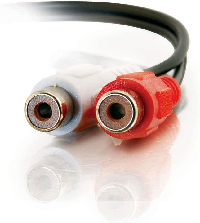 Black C2G 40468 Value Series RCA Stereo Audio Extension Cable 6 Feet, 1.82 Meters