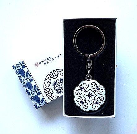 Floral Porcelain Key Chain
