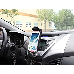 ExoMount Tablet S CD Slot Car Mount for new iPad mini, Nexus 7, Kindle Fire HDX, Galaxy Note 8.0. Holds various size smartphones & 7 to 8-inch Tablets