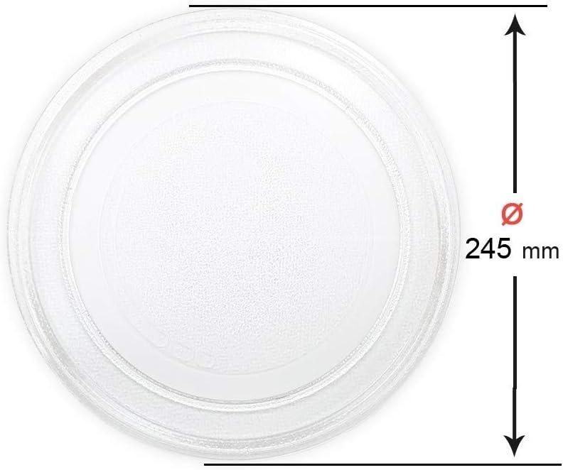 Recamania Plato Giratorio microondas. Diametro Exterior 245 mm. Diametro Interior 180 mm.LG PANASONIC GALANZ.