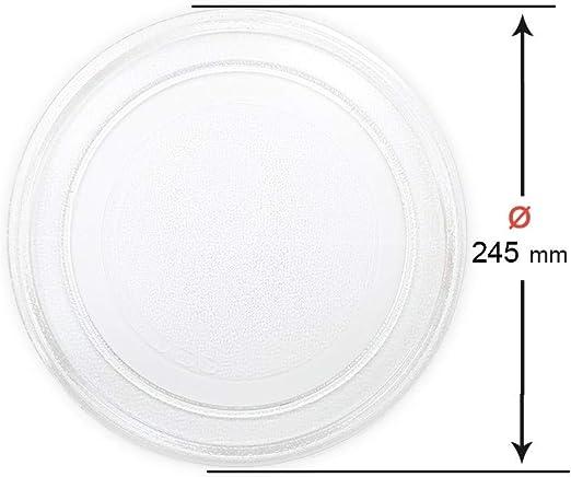 Plato giratorio microondas Diametro interior 180 mm.L Diametro exterior 245 mm