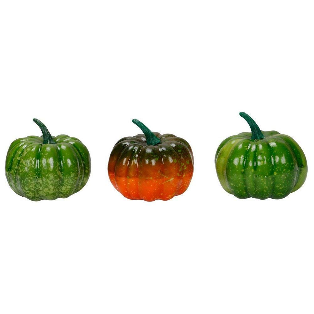 RALMALL Halloween Artificial Pumpkin Decorations,12 Pcs Assorted Fake Pumpkins Fake Vegetables Ornaments for Halloween Autumn Thanksgiving Garden Home and Harvest Decoration by RALMALL (Image #3)