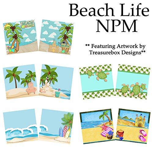 (BEACH LIFE Non-Photo-Mat Scrapbook Set - 5 Double Page Layouts )