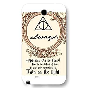UniqueBox - Customized Personalized White Frosted Samsung Galaxy Note 2 Case, Harry Potter Samsung Galaxy Note 2 case, Harry Potter Hogwarts Marauders Map Samsung Galaxy Note 2 case, Only fit Samsung Galaxy Note 2