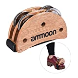 ammoon Elliptical Cajon Box Drum Companion Accessory Foot Jingle Tambourine for Hand Percussion