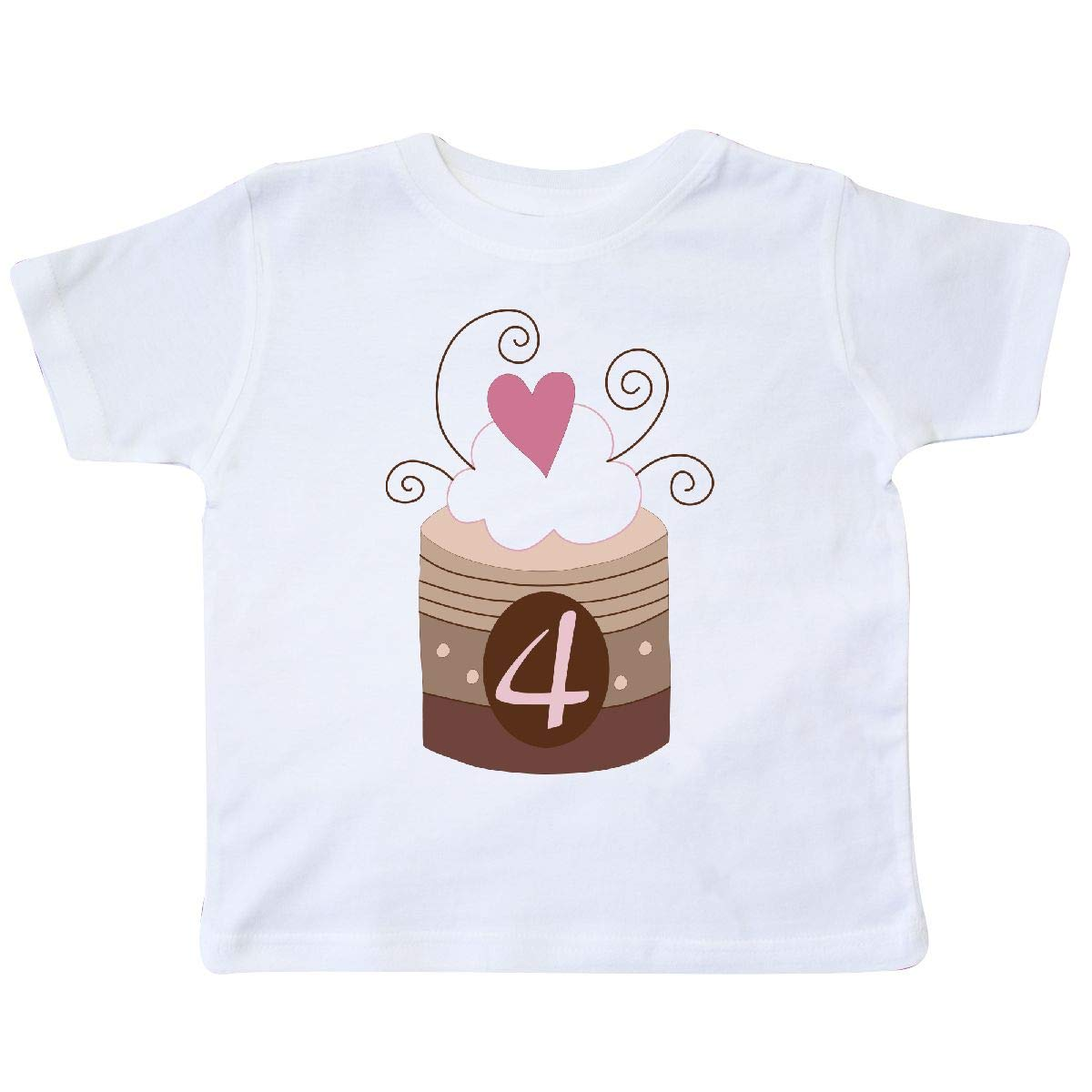 inktastic Cupcake 4th Birthday Toddler T-Shirt