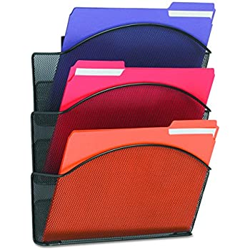 Amazon Com Staples 174 Mesh Wall File 5 Pockets Letter