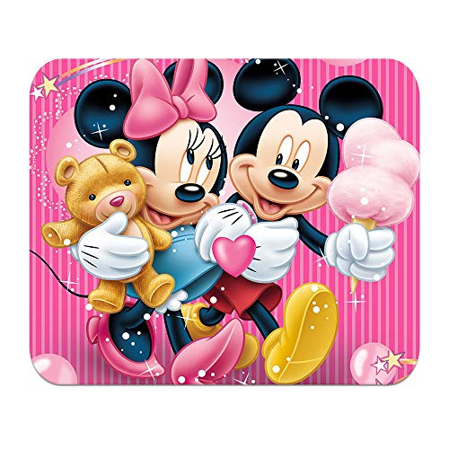 Mickey Mouse Pad - LJX Mickey Mouse Minnie Mouse Pad Personalized Non-Slip Rubber Mousepad Cartoon Pattern Gaming Mouse Mat (9.5inchx7.9inch)#E