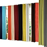 "PASSENGER PIGEON Modern Luxury Velvety Curtain Soft Fabric Rainbow Color Grommet Top 100% Thermal Blackout Extra Long White Window Treatment Curtains Panel Draperies 100"" W x 120"" L (One Panel)"