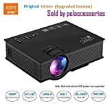 ooze Unic UC46+ (Upgraded Version ) with USB/HDMI/VGA/WIFI Miracast DLNA Airplay 1200 lumen LED Corded Portable Projector,Black