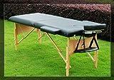AOSOM Black Portable Thick Massage Table Tatto Spa