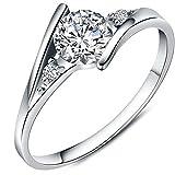 Women's Charms White Cubic Zirconia Diamond Love Promise Cz Ring Engagement Wedding Bridal Eternity...