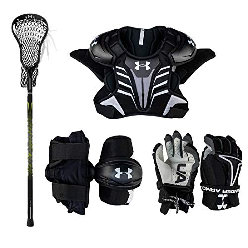 Under Armour Strategy Youth Lacrosse Starter Set (W/Complete Stick) (Youth Medium)