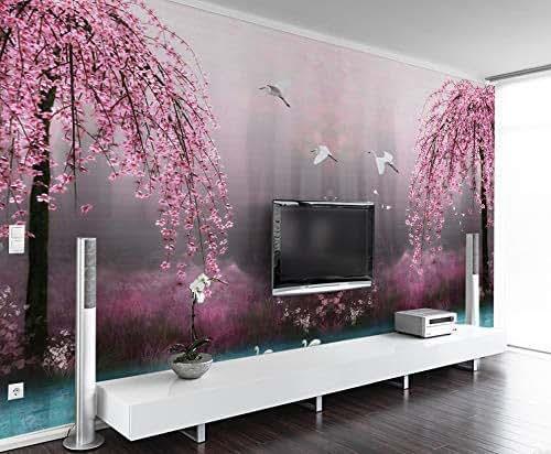 Amazon.com: Murwall Floral Wallpaper Pink Sakura Wall