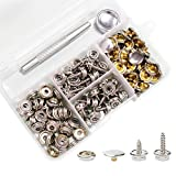 Snaps Kit for Boat Cover, 120pcs Canvas Screws