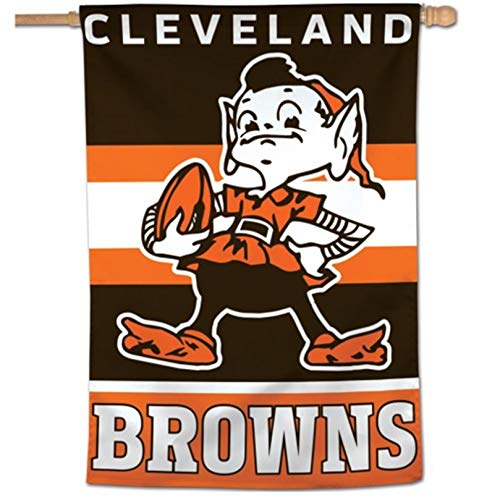 - Stockdale Cleveland Browns ELF Retro Logo WC Premium 28x40 Banner Outdoor House Flag Football
