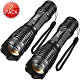 Flashlights Gosund T10 LED flashlight of 5 Modes Focus Zoomble Tactical Torches 2-pack(T10-2)