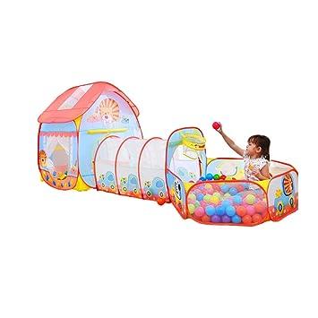 0148e1387 Bloomy home- Tienda pequeña para niños - Casa de la niña Juego Casa  Princess Baby Toy Túnel de Arrastre Piscina de Bolas Marinas de Interior:  Amazon.es: ...