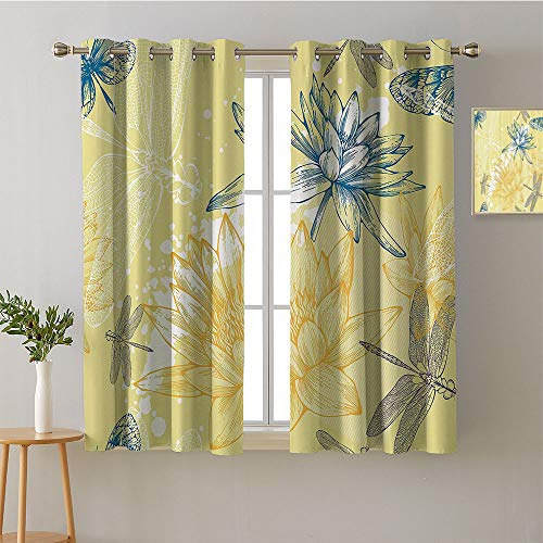 Suchashome Curtain Living Room Grommets Soft Darkening Curtains Party Darkening Curtains Noise Isolation Darkening Curtains Privacy Assured Window Treatment(1 Pair, 31.5