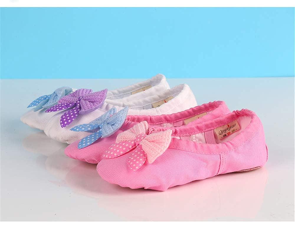 Toddler//Little Kid//Big Kid//Women Canvas Upper /& Leather Sole Ballet Slippers Ballet Dance Shoes for Girls cici shoes Ballet Shoes