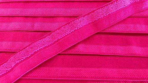5 m elastisches Einfaßband 14 mm neon pink