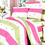 Blancho Bedding - [Colorful Life] 100% Cotton 5PC MEGA Comforter Cover/Duvet Cover Combo (Twin Size)