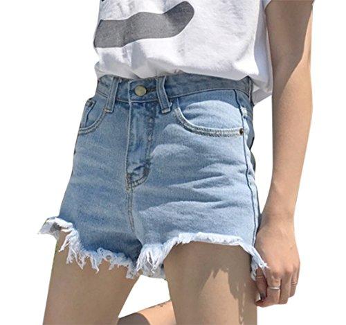 Blue4 con i caldi tasche donne delle shorts le jeans degli sexy pantaloni denim Keephen hanno afflitto del OqaHBwqR