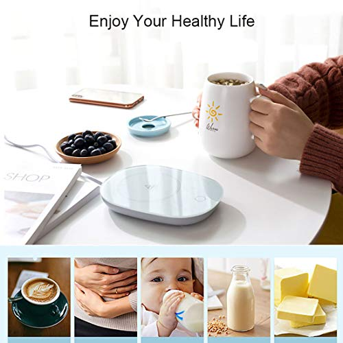 Milk Cup Warmer for Coffee Smart Beverage Warmers for Desk Coffee Mug Warmer Safely Use for Office//Home Tea Water with Touch Screen Switch Cocoa