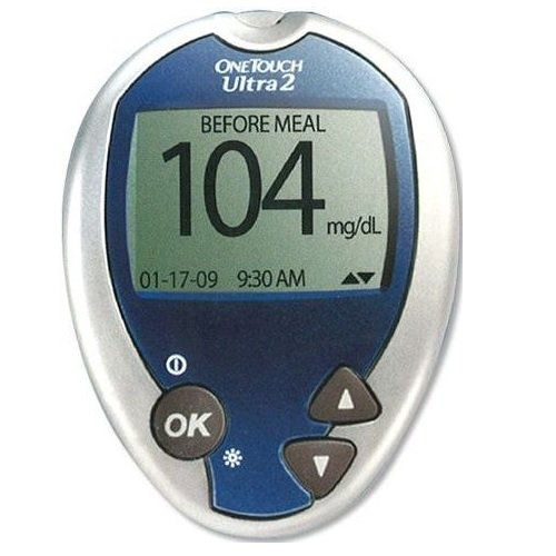 One Touch Ultra2 Glucose Meter, Manual and Case Only