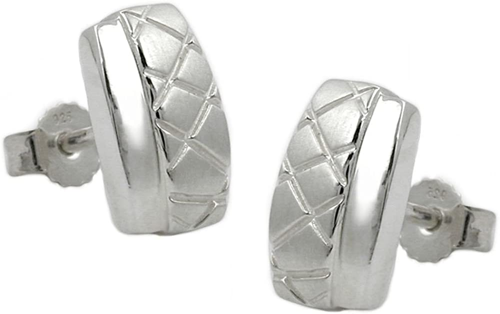 Pendientes de la joyería, X-Shaped, plata 925