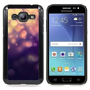 BullDog Case - FOR Samsung Galaxy J2 - Lights Blue Bling Glitter - Dise???¡¯???¡Ào para el caso de la cubierta de pl???¡¯????stico Chicas