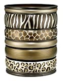 Popular Bath Safari Stripes Bath Collection - Bathroom Waste Basket