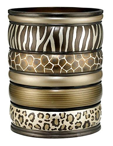 Popular Bath Safari Stripes Bath Collection - Bathroom Waste Basket